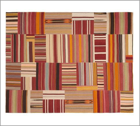 Patchwork Stripe Flatweave Rug | Pottery Barn: Living Rooms, Kilim Rugs, Playrooms Potterybarn, Flatweav Rugs Purchase, Rugs Potterybarn, Patchwork Stripes, Industrial Living, Pottery Barns, Stripes Flatweav