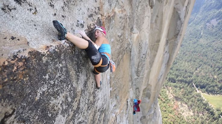 """""""Free climbing El Cap is the very definition of hard rock climbing!"""" Insightful words fromThe North Face & Petzl Athlete, Emily Harrington >> https://www.adaptnetwork.com/sports/climb/a-6-day-climb-of-golden-gate-with-emily-harrington/"""