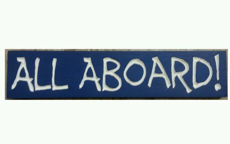 ALL ABOARD! Railroad Train Sign Wall Decor Boys Room RR Crossing You Pick Colors #CajunSignShop #PrimitiveCountry #kidsRoom