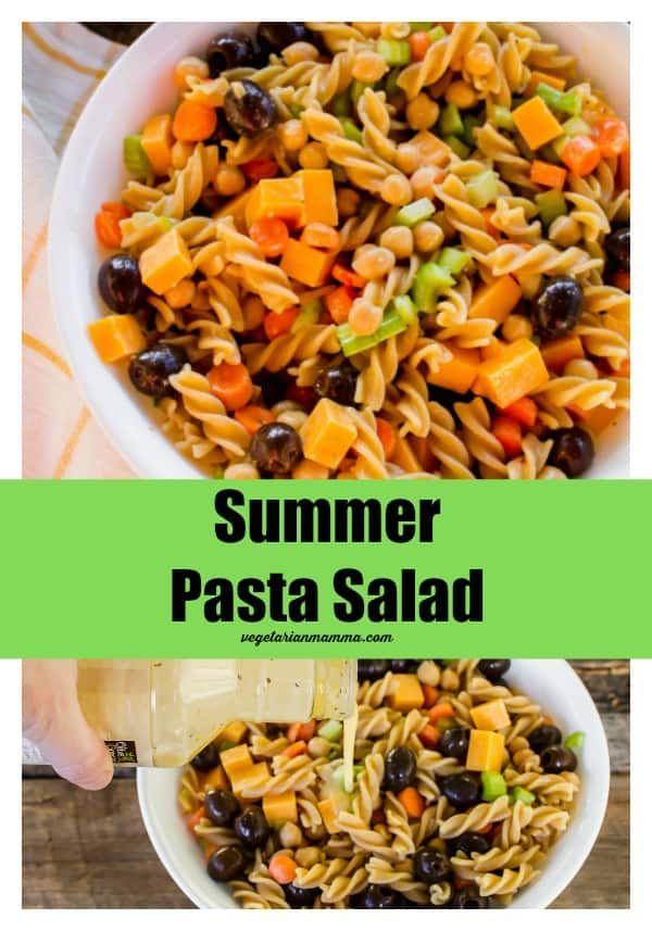 Summer Pasta Salad Glutenfree Vegan