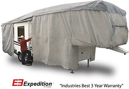 Expedition RV Trailer Cover Fits 5th Wheel 33' to 37' RVs. http://www.rvandcamper.net/covers.html