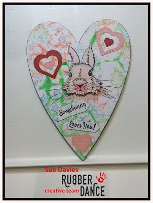 * Rubber Dance Blog *: Mixed Media Heart - Altered Art with Bunny