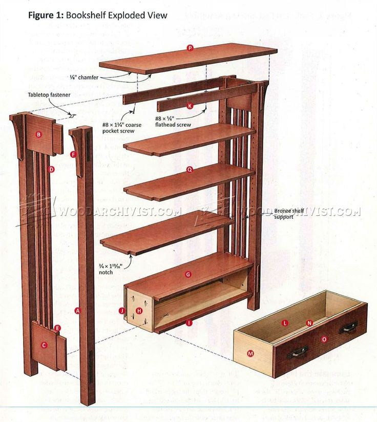 419 best dibujos images on pinterest woodworking for Craftsman style bookcase plans
