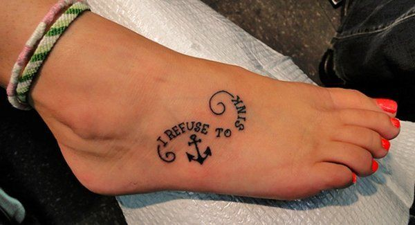 32 sink anchor tattoo on foot http://hative.com/cool-anchor-tattoo-designs-and-meanings/