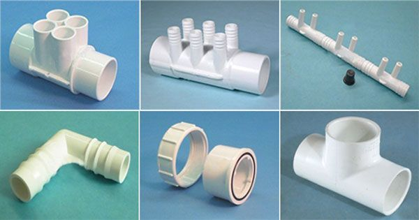 Spa And Hot Tub Plumbing Fittings Are Made Of Pvc Or Abs And Are Those Bits Of Spa Plumbing That Are Used To Connect The Section Spa Hot Tubs Hot Tub