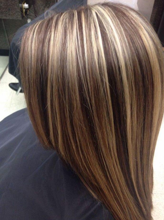 мелированные стрижки на средние волосы