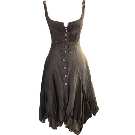 Leinen  Midi-Kleid  von MARITHÉ ET FRANÇOIS GIRBAUD  kaufen