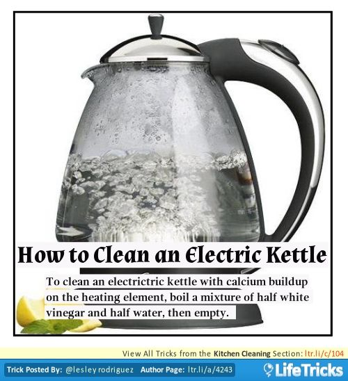 Kitchen Cleaning How To Clean An Electric Kettle