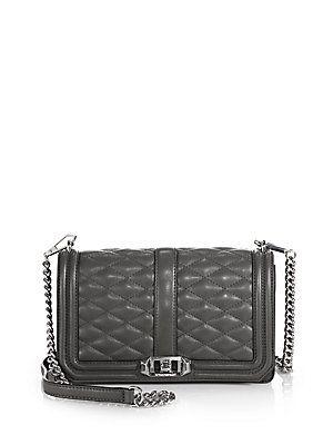 Rebecca Minkoff Love Crossbody Bag Charcoal   Chanel Boy bag dupe ...