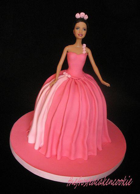 Barbie Cake by jewelsb78(thefrostedcakencookie), via Flickr