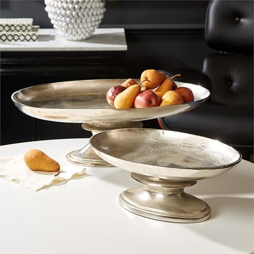 Serve in style with our Curvature Set of 2 Platters that are food safe. #platters