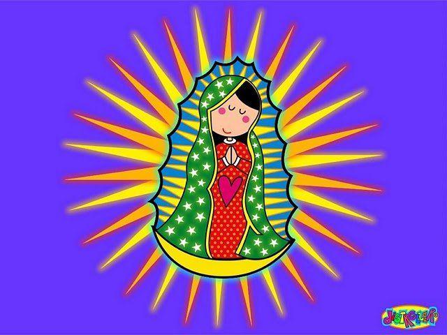 Resultado De Imagen Para La Virgen De Guadalupe Dibujo A Color Virgen De Guadalupe Animada Virgen Caricatura Virgencita De Guadalupe Caricatura