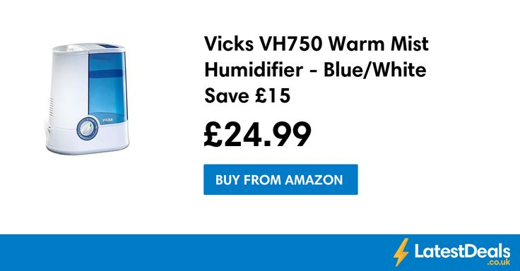 Vicks VH750 Warm Mist Humidifier - Blue/White Save £15, £24.99 at Amazon