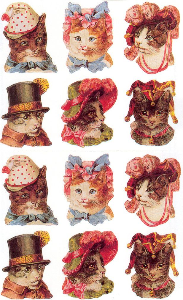 Free Victorian Cat Graphics