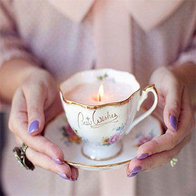 DIY Project: Κεριά μέσα σε vintage φλιτζάνια τσαγιού