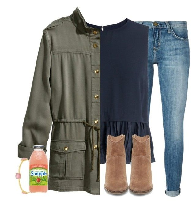 """""""literally no school monday is like making my weekend"""" by elizabethannee ❤ liked on Polyvore featuring Current/Elliott, Elizabeth and James, Steve Madden, H&M, Kate Spade, women's clothing, women's fashion, women, female and woman"""