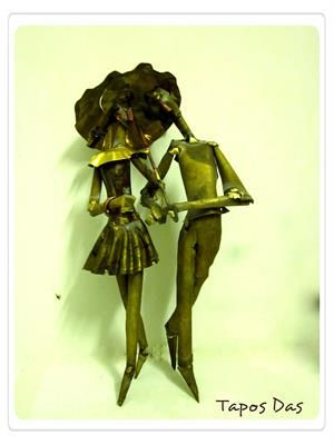 "My Metal Plate Sculpture Size : 15"" X 7""."