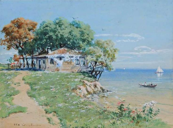 Hoca Ali Rıza (1858 – 1939) was a Turkish painter. Born in Uskudar, Istanbul. Painted many landscapes of Istanbul and especially Uskudar. Attended Kuleli Military High School and then the Military Academy. There he studied under Osman Nuri Pasha, Süleyman Seyyid and Monsieur Gués, and graduated in 1884. From 1909 to 1912 he served as President of the Society of Ottoman Painters.