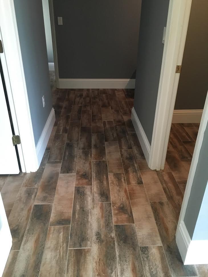 MohawkTreyburneAntique Amaretto Wood look tile  tile