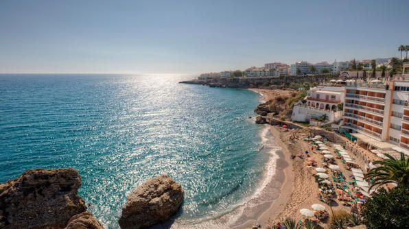 Malaga is the urban hub for the Costa del Sol region, but it has a beautiful coastline of its own. (Photo by Getty): Viagem Atravéz, Beaches Life, Andalusia, Malaga Spain, Beauty Spain, Place, Atravéz Da, Nerja Spain, Nature