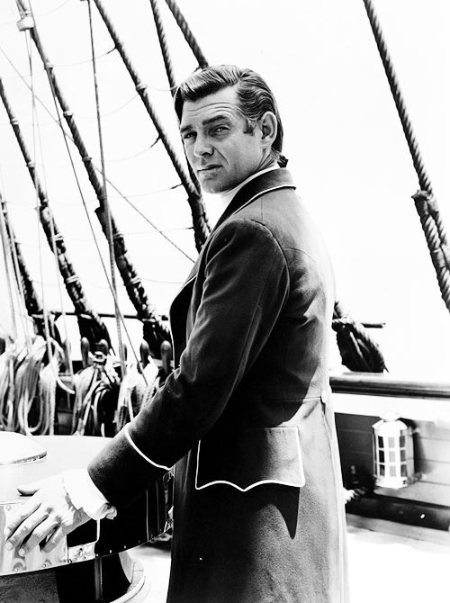 Clark Gable during the filming of Mutiny on the Bounty (1935)