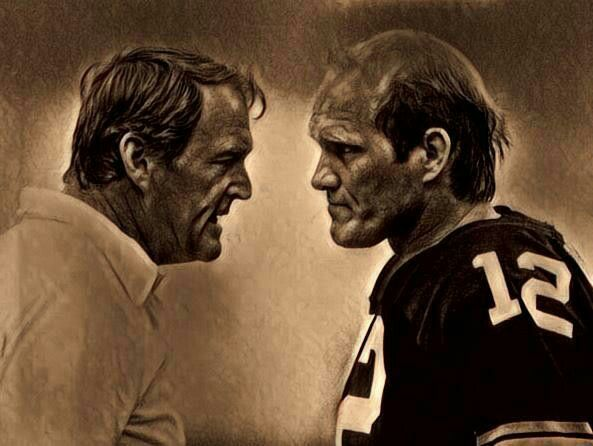 """Chuck Noll and Terry Bradshaw """"butting heads"""""""