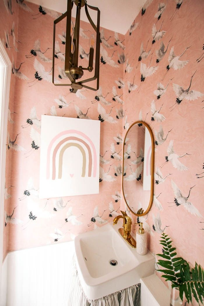 Powder Room Makeover - at home with Ashley in 2020 ...