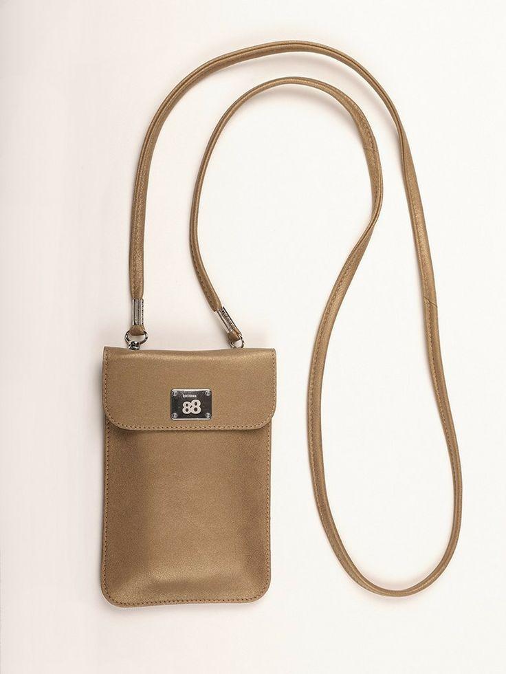 MOONLIGHT | Metallic Bronze | hot items 88 - Handytasche zum Umhängen - made in Germany