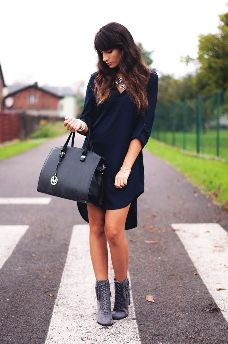 trendy style shoes boots grey gray autumn amazing shirt dress sexy look