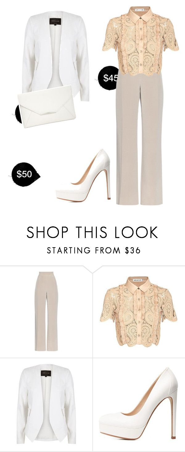 """""""My First Polyvore Outfit"""" by anastasia-tyukhaeva ❤ liked on Polyvore featuring MaxMara, self-portrait, River Island, Charlotte Russe and Style & Co."""
