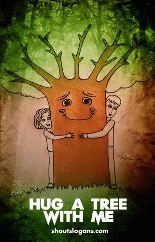 hug a tree slogans