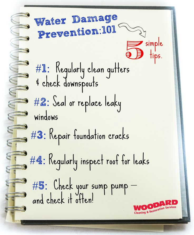 12 Tips For Water Damage Repair: 7 Tips To Prevent Basement Flooding