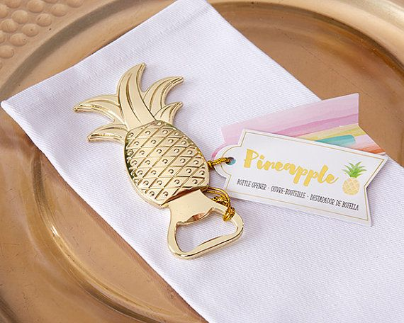 Wedding Favor Gold Pineapple Bottle Opener by TheBlushMarket
