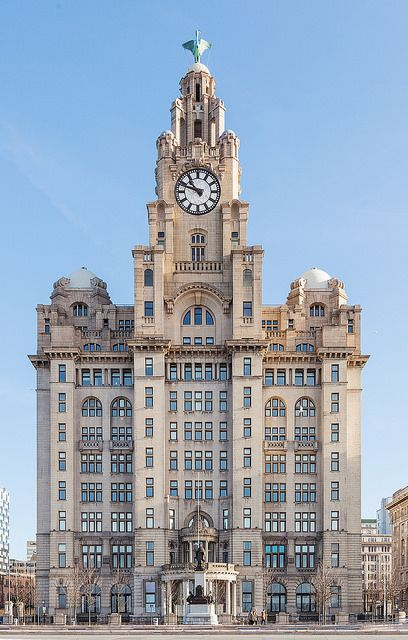 Via Flickr: The Royal Liver Building is a Grade I listed building located in Liverpool, England. It is part of Liverpool's UNESCO designated World Heritage Maritime Mercantile City.