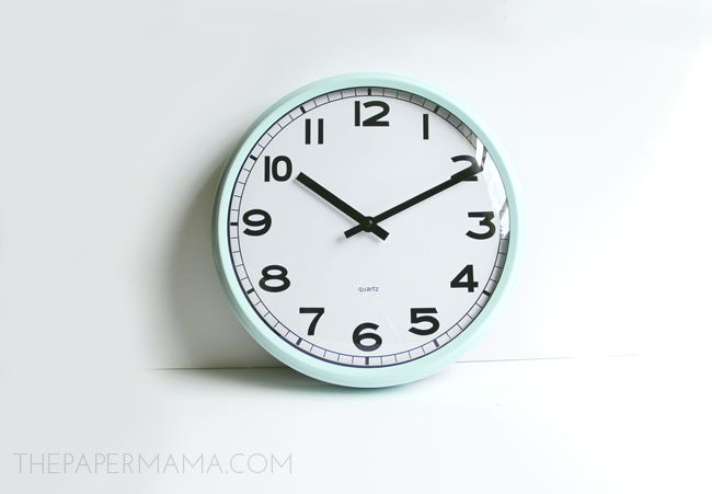 My Painted Ikea Clock turned out so cute! Looks like a retro kitchen clock.