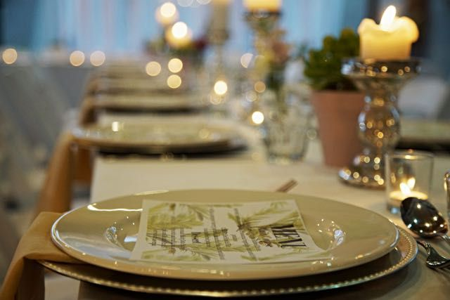 Palm Springs table setting