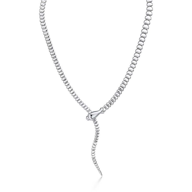 Elsa Peretti® Snake necklace in sterling silver. | Tiffany & Co.