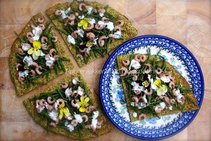 Puur & Lekker leven volgens Mandy: Broccoli-Bloemkool Pizza (2 porties) met zeekraal