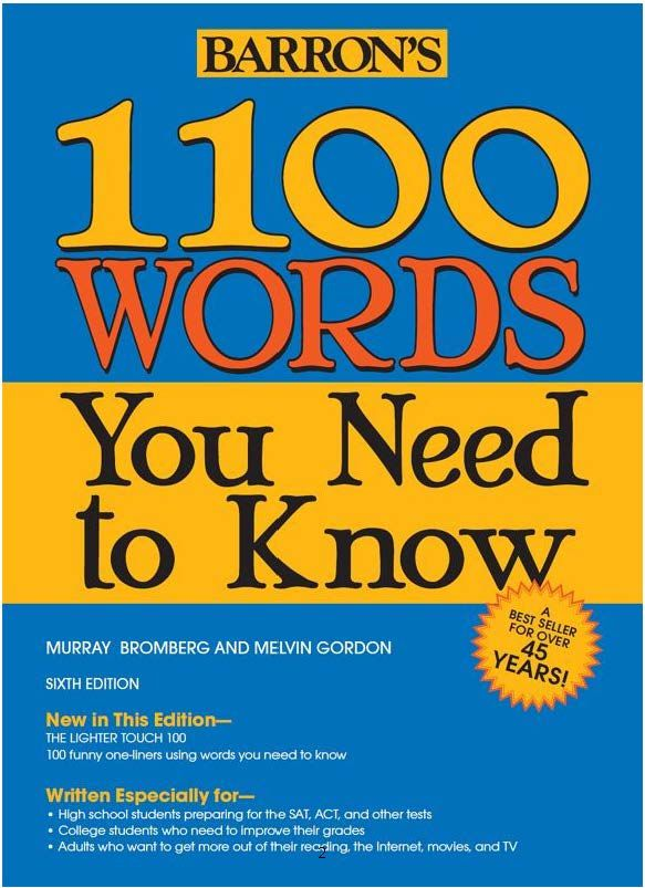 Sach Barron S 1100 Words You Need To Know 6th Edition With Key Sach Gay Xoắn Sach Tiếng Anh Ha Nội Improve Your Vocabulary Vocabulary Book Words