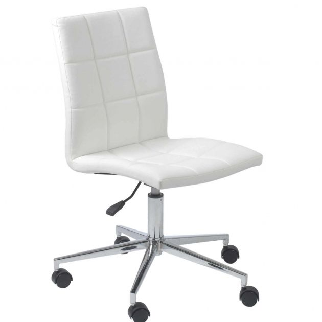 White Desk Chair With Wheels With Images Office Chair Design