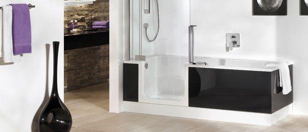 Bilderesultat for kombiner dusj og badekar