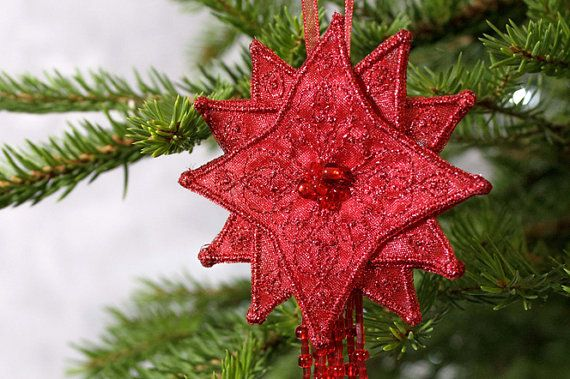 Christmas tree decor Home Holiday decoration Star by LIraCraft