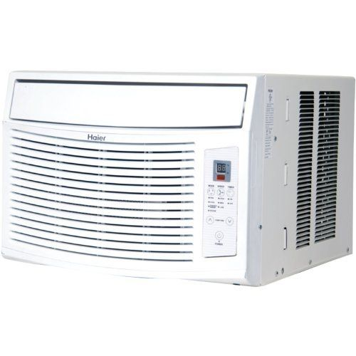Haier ESA412K 12,000 BTU Room Air Conditioner by Haier. $245.00. Time/Temperature Display. Full Function Remote ? Magnetic+Braille. Digital Temperature Adjust. Electronic Controls. Energy Star Qualified. Amazon.com                  This Haier 12,000 BTU Electronic Control air conditioner is perfect for cooling a mid-size bedroom or office. Enjoy quiet operation, convenient digital time/temperature display, and 24 hour on/off timer. The magnetic remote control ...