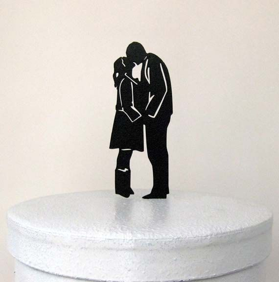 Wedding Cake Topper  Tall and Short by Plasticsmith on Etsy, $20.00