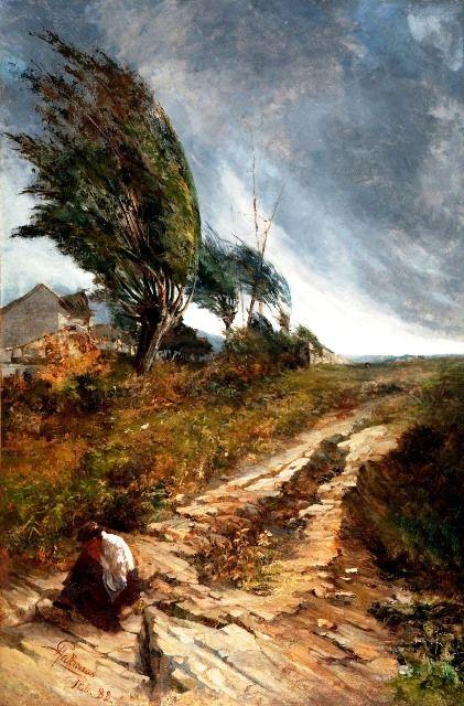 Antonio Parreiras – Ventania – 1888