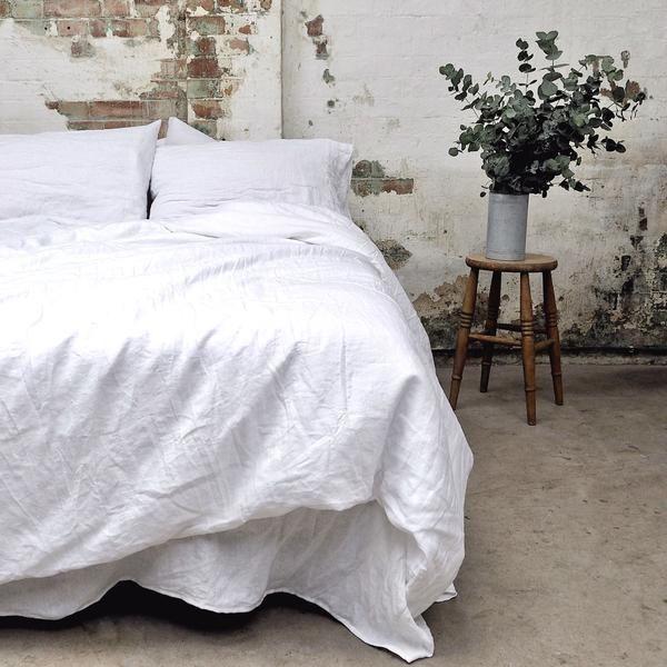 White Linen King Size Duvet Cover | PIGLET US