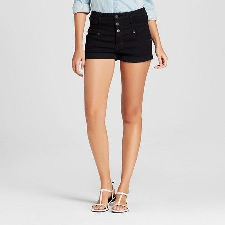 Women's High Rise Jean Short Black - Mossimo : Target