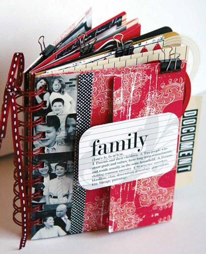 Teresa Collins Family book, now if only I could figure out how to make me one of these neat handy dandy lovely books!!!!