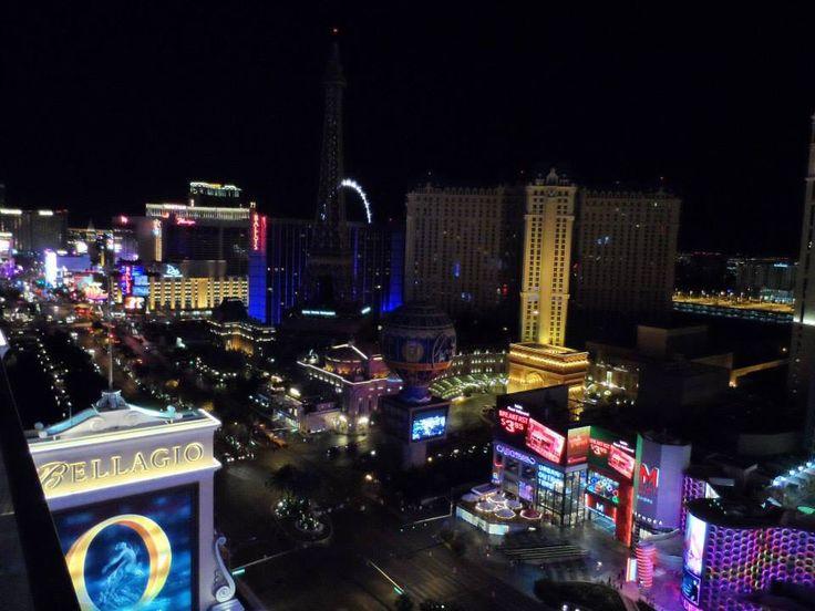 Las Vegas strip at nighttime - 2014