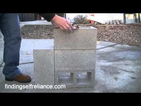 DIY Cinder Block Rocket Stove for under $8